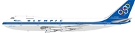 Olympic SX-OAE Boeing 747-212B with stand (1:200)