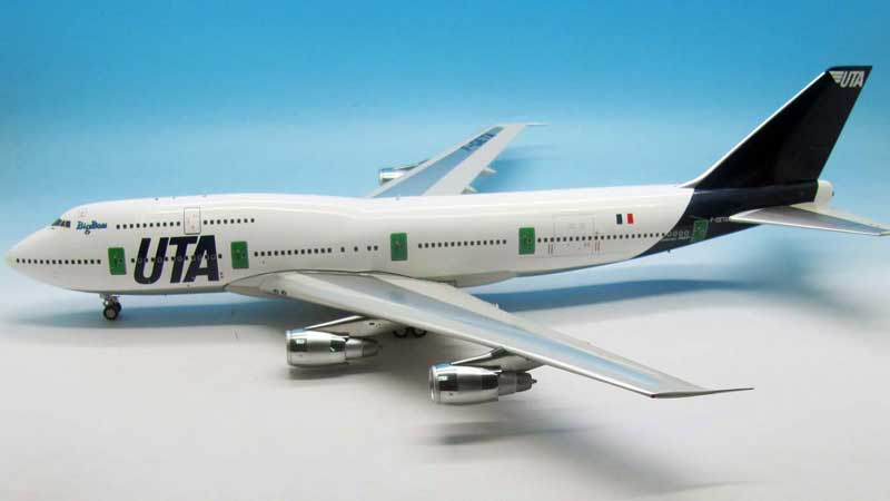 UTA Boeing 747-300 F-GETA (1:200) - Preorder item, order now for future delivery, InFlight 200 Scale Diecast Airliners Item Number IF743UTA001