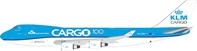 KLM - Royal Dutch Airlines Cargo Boeing 747-400 PH-CKB With Stand (1:200) by InFlight 200 Scale Diecast Airliners