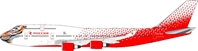 "Rossiya Russian Airlines Boeing 747-400 EI-XLD ""Amur Tiger Center"" (1:200), InFlight 200 Scale Diecast Airliners Item Number IF744SDM001"