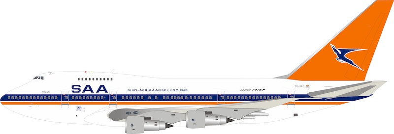 South African Airways Boeing 747SP ZS-SPC (1:200)