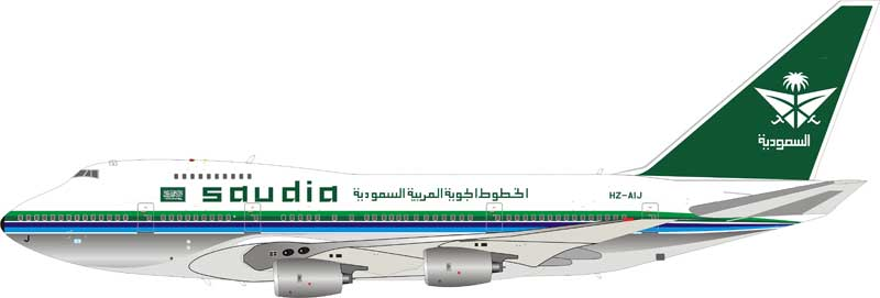 Saudi Arabian Airlines Boeing 747SP-68 HZ-AIJ Polished  (1:200) - , InFlight 200 Scale Diecast Airliners Item Number IF747SPSV0818P