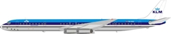 KLM Royal Dutch Airlines McDonnell Douglas DC-8-63 PH-DEG (1:200) , InFlight 200 Scale Diecast Airliners, Item Number IF8630518