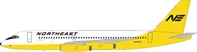 Northeast Airlines Convair 880 N8493H 1970s Yellowbird Colors (1:200), InFlight 200 Scale Diecast Airliners Item Number IF880NE001