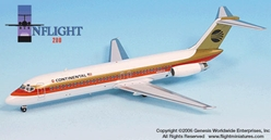 Continental DC-9-32 Black Meatball (1:200), InFlight 200 Scale Diecast Airliners Item Number IF932003