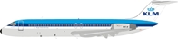 "KLM DC-9-32 PH-DOB ""City of Santa Monica"" With Stand (1:200) by InFlight 200 Scale Diecast Airliners"