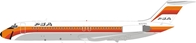 PSA  Pacific Southwest Airlines DC-9-32 N707PS With Stand (1:200) by InFlight 200 Scale Diecast Airliners item number: IFDC0PS0219