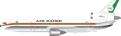 Air Zaire McDonnell Douglas DC-10-30 9Q-CLT Polished, with stand (1:200)