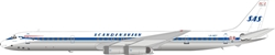 Scandinavian Airlines (SAS) DC-8-63 LN-MOY Polished  (1:200) , InFlight 200 Scale Diecast Airliners Item Number IFDC8630418P