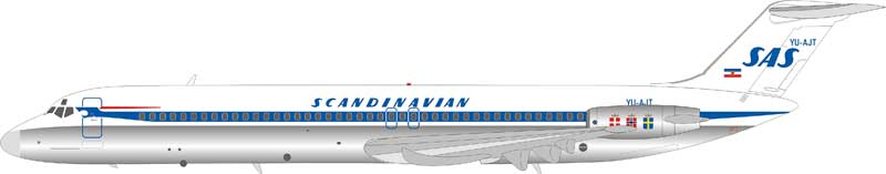 Scandinavian Airlines SAS DC-9-51 YU-AJT (1:200), InFlight 200 Scale Diecast Airliners, Item Number IFDC951SK0219BP