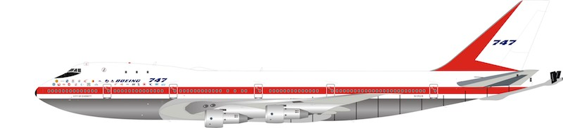 Boeing House KC-747 N1352B polished (1:200)  - Preorder item, order now for future delivery, InFlight 200 Scale Diecast Airliners, Item Number IFKC7470119P