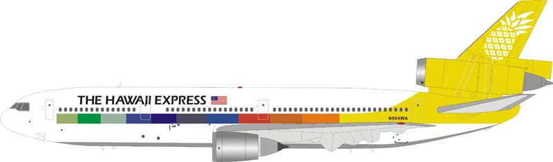 The Hawaii Express McDonnell Douglas DC-10-10 N904WA (1:200), InFlight 200 Scale Diecast Airliners Item Number IFLPDC10001