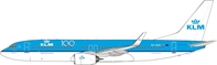 KLM - Royal Dutch Airlines Boeing 737-8K2 PH-BXK 100th Logo With Stand (1:200) by InFlight 200 Scale Diecast Airliners