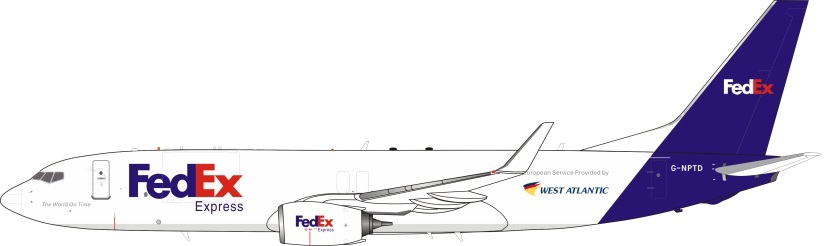 West Atlantic (FedEx) Boeing 737- 83N(BCF) G-NPTD (1:200)