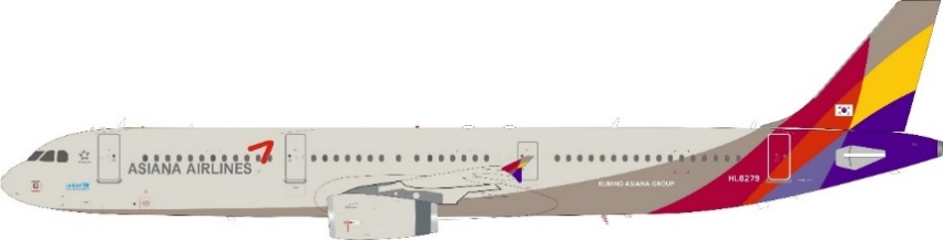 Asiana Airlines A321-231 HL8279 with stand