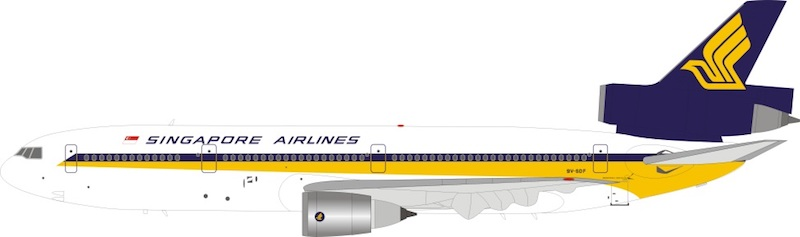 Singapore Airlines DC-10-30 9V-SDF With Stand(1:200)