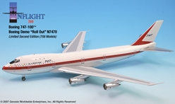 Boeing 747-100, Roll out scheme (1:200), InFlight 200 Scale Diecast Airliners Item Number IF742001A