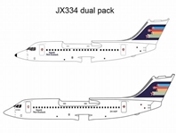 "Ansett New Zealand BAe 146-200, BAe 146-300 ""Flying Stars"" Twin Pack (1:400), Jet X 1:400 Diecast Airliners Item Number JET334"