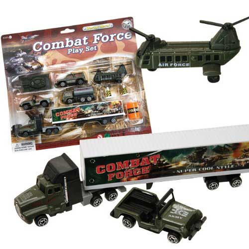 Combat Force Military Vehicle 9 Piece Play Set, Little Ant Item Number CF006-196