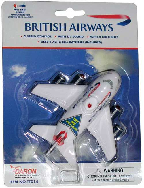 British Airways Pullback W/LIGHT & Sound, Toytech Item Number TT014
