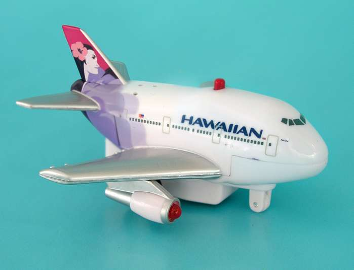Hawaiian Airlines Pullback W/LIGHT & Sound, Toytech Item Number TT936