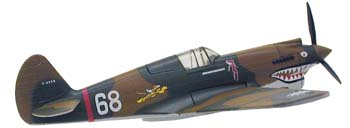 Curtiss P-40 'Hells Angels' (1:90), Model Power Diecast Planes Item Number MP5354-1