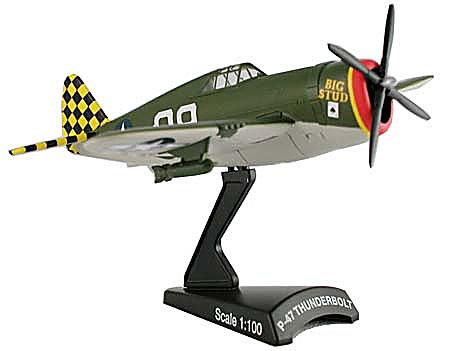 "P-47 Thunderbolt ""Big Stud"" (1:100), Model Power Diecast Planes Item Number MP5359-2"