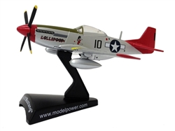 "P-51D Mustang ""Tuskegee"" (1:100), Postage Stamp Diecast Planes Item Number MP5342-7"