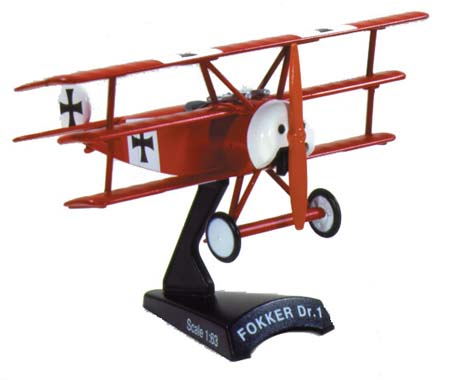 Fokker Dr-1 Red Baron (1:63), Model Power Diecast Planes Item Number MP5349