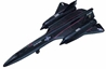 "SR-71 Blackbird (Approx. 3.5""), Motormax Diecast Item Number DS-SR71"