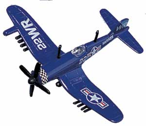 "F4U Corsair (Approx. 3.5""), Motormax Diecast Item Number DS-F4U"