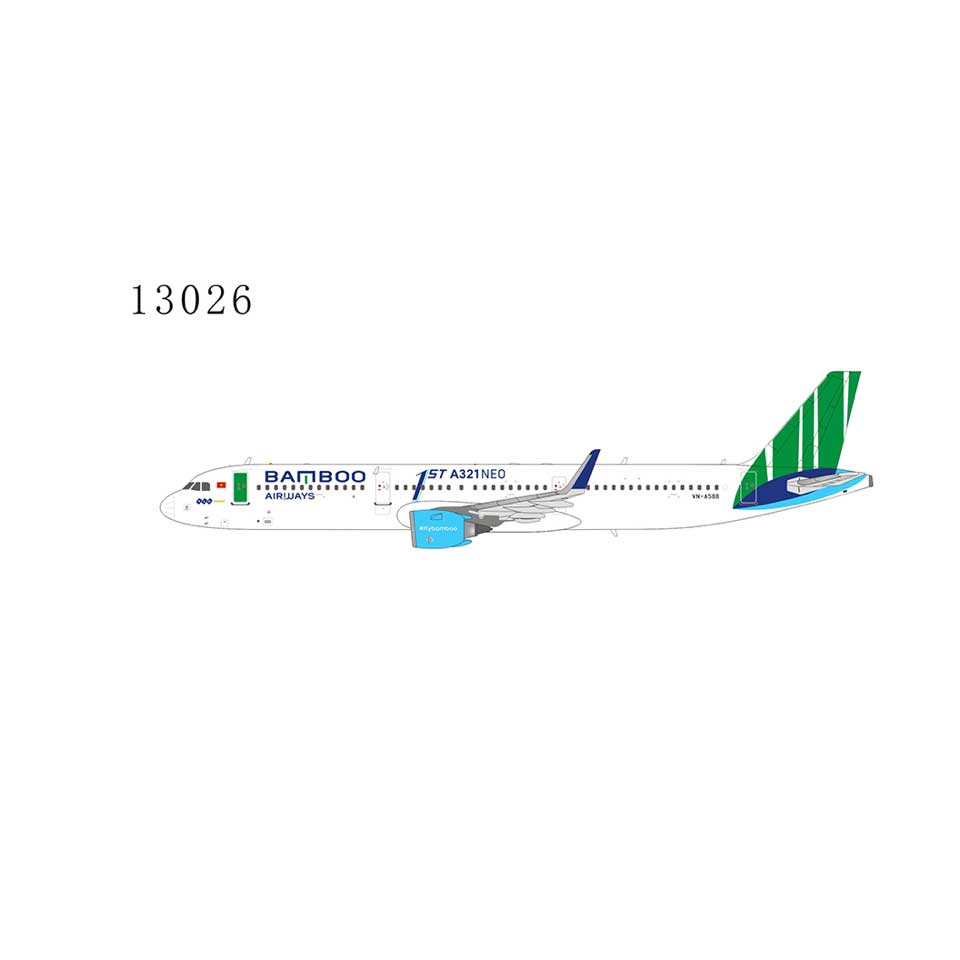 "Bamboo Airways A321neo VN-A588 with ""1st A321neo"" sticker 1:400"