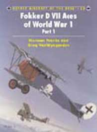 Fokker D.Vii Aces Of WW I Pt1, Osprey Publishing Item Number OSPACE53