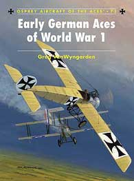 Early German Aces Of WW I, Osprey Publishing Item Number OSPACE73
