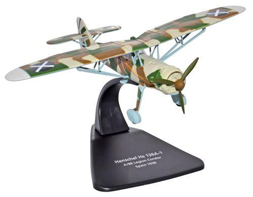 Henschel Hs 126A-1 Condor Legion, Luftwaffe, Spain, 1938 (1:72), Oxford Diecast 1:72 Scale Models, Item Number AC044