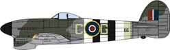 Hawker Typhoon Mk.IB, Wing Commander Charles Green, No. 121 Wing, RAF, Normandy, June 1944 (1:72)