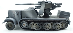 Sd.Kfz.8 DB9 Halftrack with 88mm Flak 18, Grey (1:72), Precision Model Art Item Number PMA-P0307