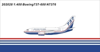 Boeing House Colors 737-600 N7376 (1:400)