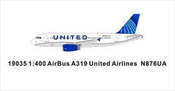 United Airlines A319 N876UA New Color (1:400)