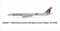 Qatar Amiri Flight A340-200 A7-HHK New Color   VIP  (1:400)