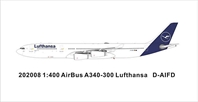 Lufthansa A340-300 D-AIFD New Color (1:400)