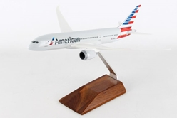 American 787-800 (1:200) with wood Stand by SkyMarks Airliners Models item number: SKR5088