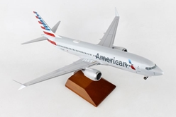 American 737MAX8 (1:100) by Skymarks Supreme Desktop Aircraft Models item number: SKR8272