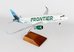 "Frontier A320 ""Hugh the Manatee"" (1:100) by Skymarks Supreme Desktop Aircraft Models item number: SKR8328"