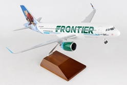 "Frontier A320 ""The Pine Martin"" (1:100) by Skymarks Supreme Desktop Aircraft Models item number: SKR8345"