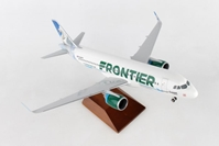 Frontier A320 Swan (1:100) by Skymarks Supreme Desktop Aircraft Models item number: SKR8361