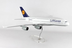 Lufthansa 380 (1:100) with Stand and Gear by Skymarks Supreme Desktop Aircraft Models item number: SKR8508