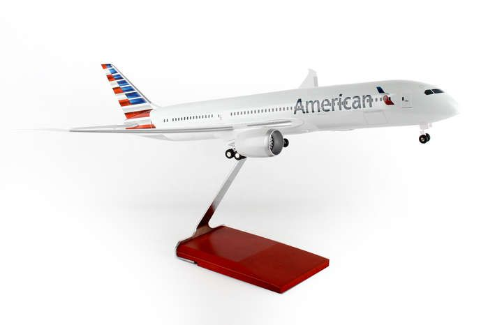 American 787-9 (1:100) by Skymarks Supreme Desktop Aircraft Models item number: SKR9001