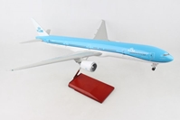 KLM 777-300 With Wood Stand & Gear 1:100 by Skymarks Supreme Desktop Aircraft Models item number: SKR9401