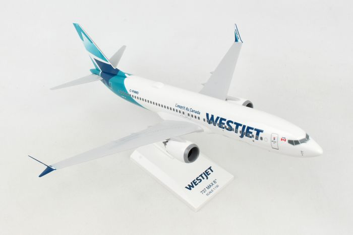 Westjet 737-MAX8 New Livery (1:130) by SkyMarks Airliners Models item number: SKR994